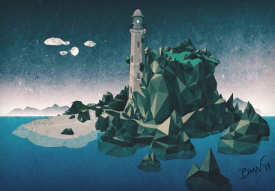 Low-Poly Lighthouse ColorTexture 02